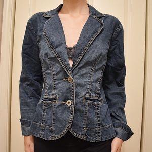 Ladies Small vintage denim blazer